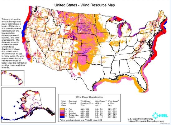 美国:打破能源运输限制 开启风能潜力