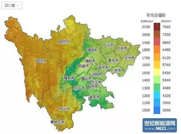 四川地区光照资源