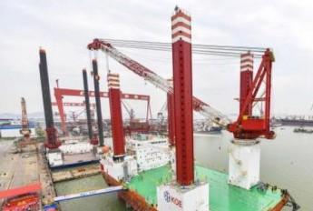华南首座风电安装平台广州交付