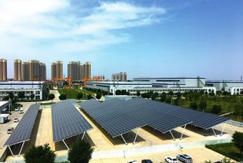 西北最大屋顶分布式光伏发电项目运行