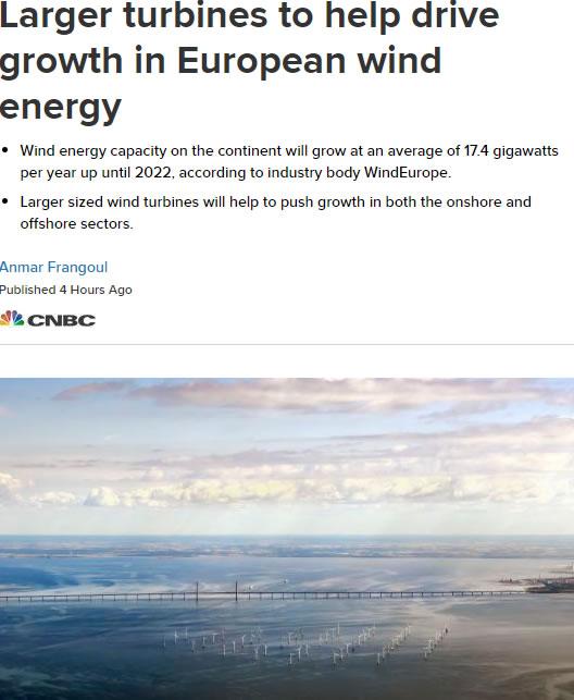 """欧洲风能行业将在未来5年实现""""稳健增长"""""""